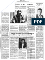 Edgard Romero Nava - Ausencia de Garantias Economicas Condiciona Logros Democraticos - El Diario de Caracas 24.01.1990