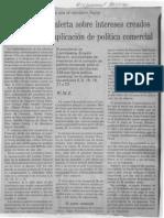 Edgard Romero Nava - Consecomercio Alerta Sobre Intereses Creados Para Pospone Aplicacion de Politica Comercial - El Universal 25.01.1990