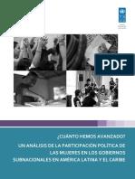 Estudio Participacion Politca de Mujeres en El Ambito Subnacional