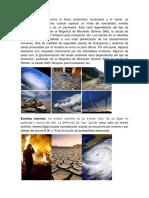 Eventos Naturales y Extremos y Estrategias