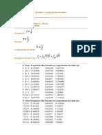 Tabela de Frequências Periodos e Comprimentos de Onda