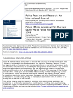 Police Officer Suicid Within the New South Wales Police Force