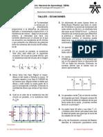 Taller 1- Ejercicios de Ecuaciones