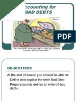 ADJUSTING FOR BAD DEBTS.ppt
