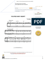 Rod Stewart - You'Re in My Heart Sheet Music for Piano Solo [PDF]