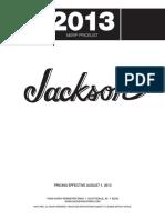 Jackson Price List 2013