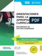 Orientaciones Para La Apropiacion Curricular -RecLec-sec-CsSocHum