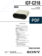 Sony ICF-C218