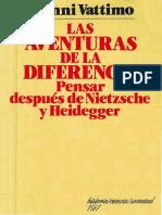 Gianni Vattimo Las Aventuras de La Diferencia