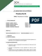 Práctica 5 Reguladores de Voltaje
