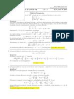 Corrección segundo parcial de cálculo III, jueves 6 junio de 2019