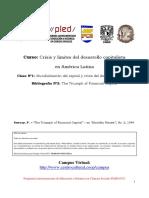 Mundialización del capital y crisis del desarrollo nacional .  Sweezy, P.
