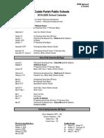 cpsb 2019-2020 calendar approved