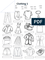 British English Clothing Label and Colour Classroom Posters Information Gap Activities Pictu 102053
