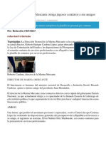 Director de Marina Mercante Otorga Jugosos Contratos a Sus Amigos