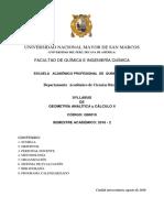 Geom. Analitica y Calculo II 07.1 2016-2
