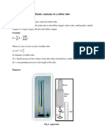 Elastic Constants of a Rubber Tube
