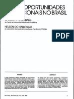 Raça e Oportunidades Educacionais No Brasil