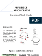 Analisis de Carbohidratos Exposicion