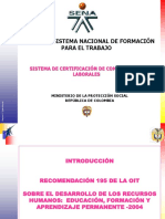 Sistema de Certificaciones Competencias Laborales