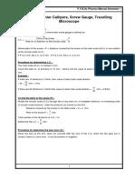 Fybsc Manual
