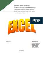Excel Trabajo de Informatica