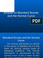 Module on Standard Scores and the Normal Curve