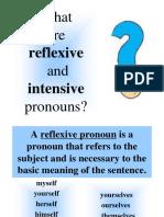 Reflexive Intensive Pronouns