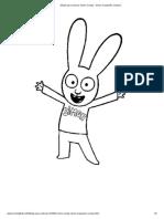 Dibujo Para Colorear Simon Conejo _ Simon El Pequeño Conejo 2