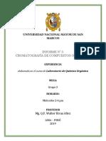 Informe 5. Cromatografia de Compuestos Organicos