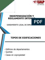 Independizacion y Reglamento Iterno de Saneamiento l.i.