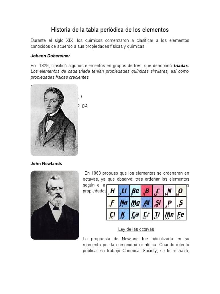 Historia de la tabla peridica de los elementos urtaz Image collections