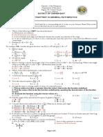 Pretest Posttest General Math