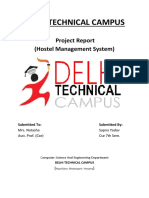 Hostel Management System Project Report