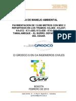 Plan de Manejo Ambiental Tamalameque - El Burro