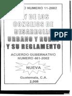 Ley de Los Consejos de Desarrollo rural y urbano decreto 11-2002