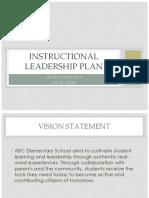 instructional leadership plan ppt