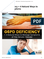 G6PD Deficiency + 4 Natural Ways to Manage Symptoms - Dr. Axe