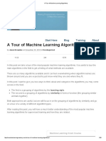 A Tour of Machine Learning Algorithms
