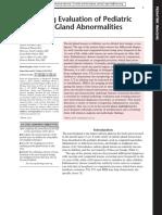 Imaging Evaluation of Pediatric Parotid Gland Abnormalities