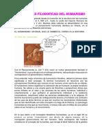 Corrientes Filosoficas Del Humanismo