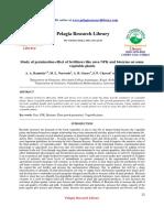 Study of Germination Effect of Fertilizers Like Urea Npk and Biozyme on Somevegetable Plants