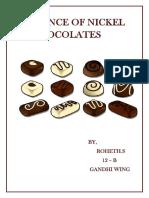ROHETH- Presence of Nickel in Chocolates