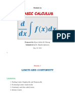 Module in Basic Cal