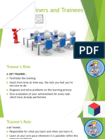 Role of Trainers and Trainees