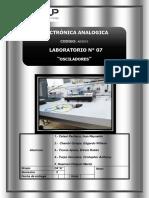 Laboratorio 7 - Osciladores