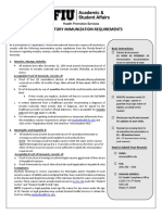 FIU Immunization Documentation Form