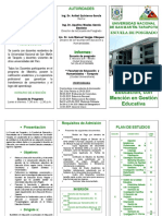 Maestria en Gestion Educativa
