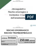Anticoagulanti e Rischio Emorragico e Trombotico