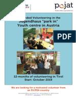 Volunteer Call Parkin2019